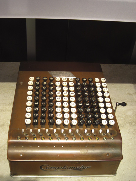 when was the adding machine invented