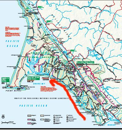 alamere falls trail map with Reyes on Reyes as well Faults furthermore 04 also Views moreover Sea Birds l.