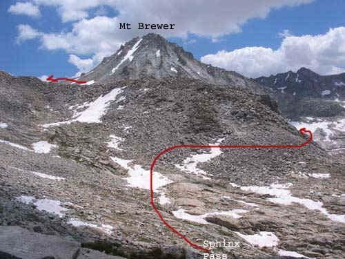 Rock Climbing in Mt. Brewer, High Sierra