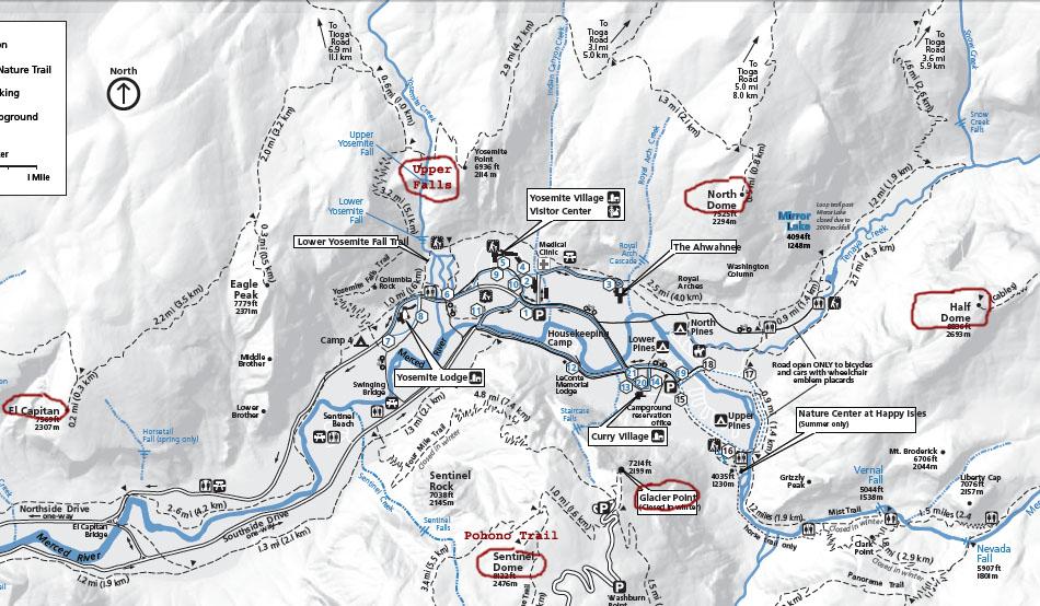 Yosemite Park – Yosemite Tourist Map